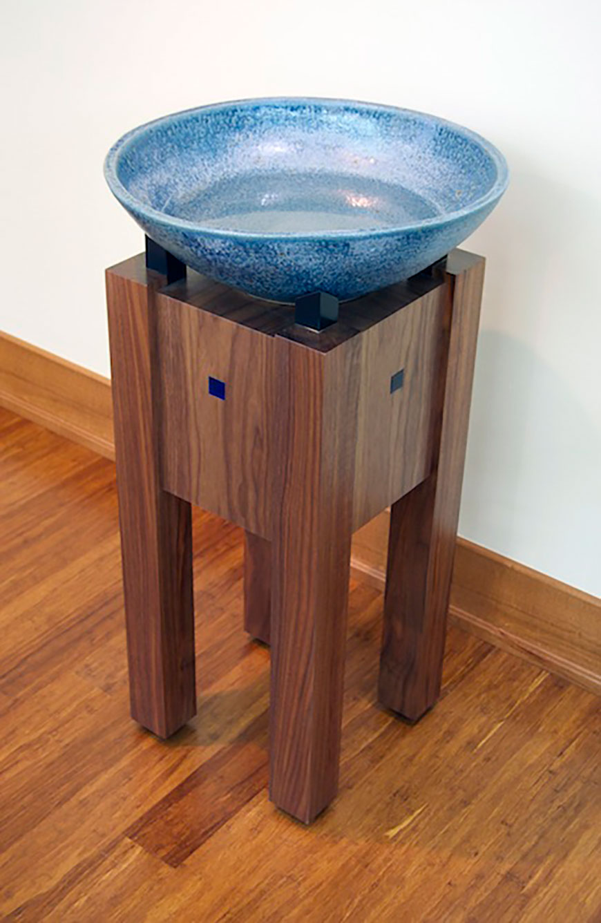 Chapel furniture water font by Chris Kepes
