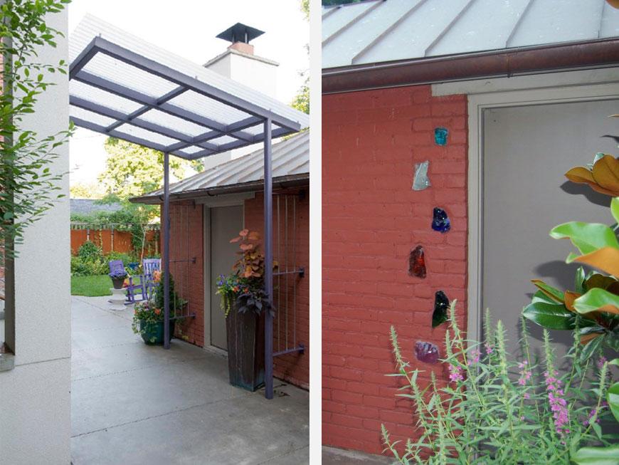 Modern components enhance garden environment