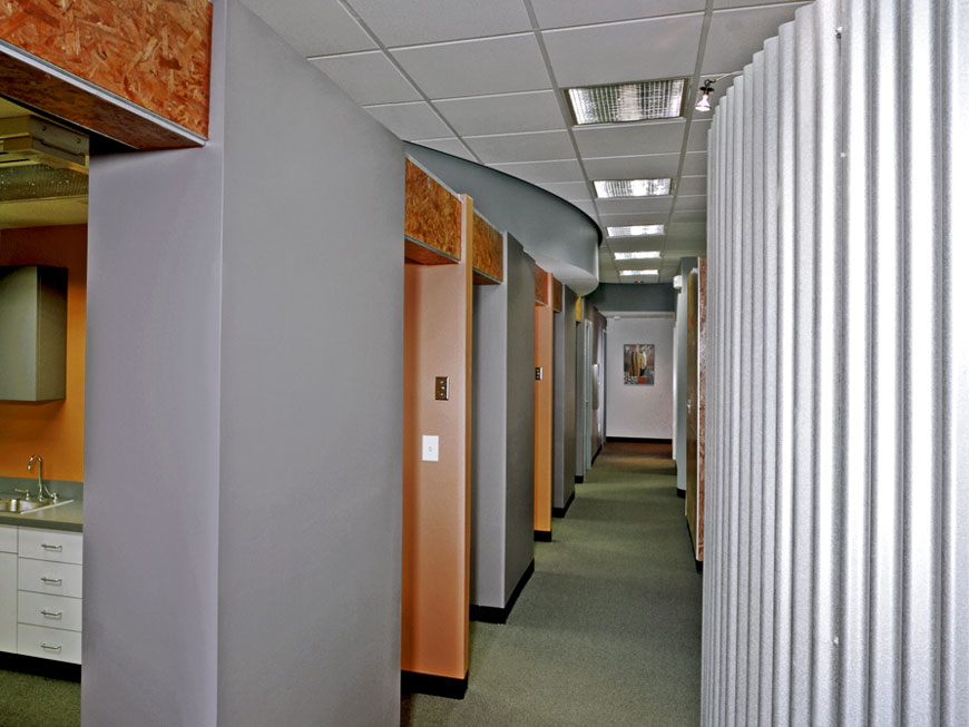 Interior environment of dental office designed by Chris Kepes