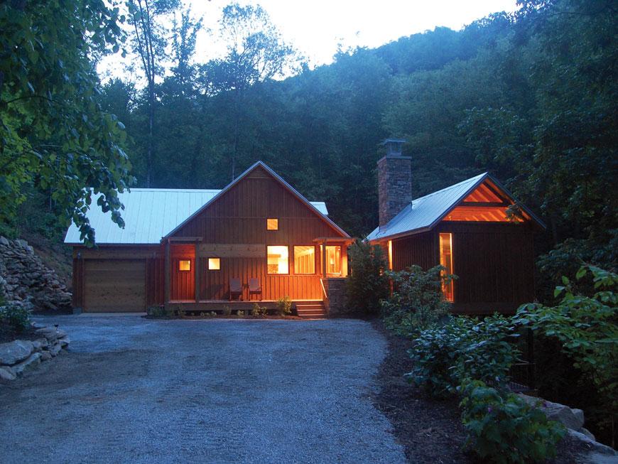 Modern mountain house reflects environment