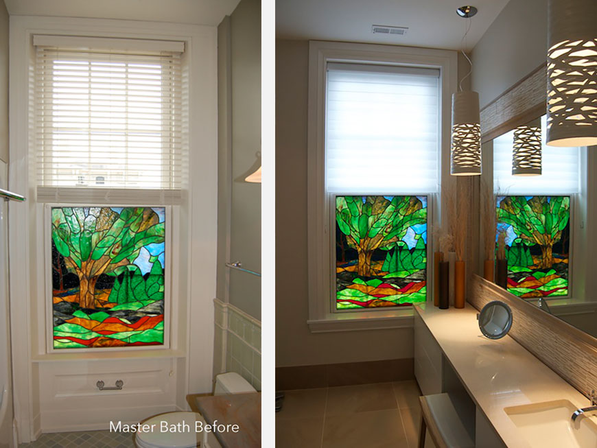 Master bath before and after modern remodeling by Kepes Architecture